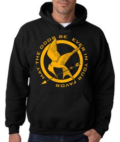 HUNGER GAMES HOODIE Hooded Sweatshirt Mockingjay Catching Fire Rising Sun The 12 #RockCityThreads #Hoodie