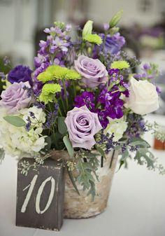 Featured Photographer Kathleen Hertel Photography Gorgeous Purple Fl Design Wedding Reception Centerpiece