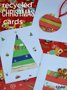 recycled christmas cards simply kinder pinterest