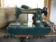 The Kingston Sewing Machine  Kingston De Luxe Model 1953  Made in Japan  Motor: 110 Volt/1.0 Amps, Champion Universal Motor Model 24, 25-75