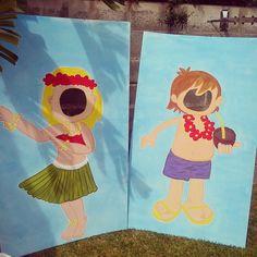 Hoy nos trasladamos a Hawai!! hace unas semanas me pidieron montar una fiesta de cumpleaños para una niña de 8 años con una tematica muy ...