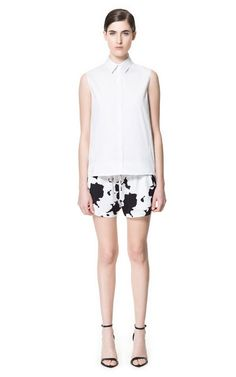 PRINTED SHORTS WITH POCKETS - Trousers - Woman - ZARA United Kingdom
