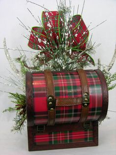 Traditional Christmas plaid with glittered standing deer and two frosted antlers arranged in a trunk with snow branches, pine cones and pines. Tartan Fabric, Tartan Plaid, Tartan Christmas, Xmas, Glitter Roots, Stewart Tartan, Scottish Clans, Plaid Blanket, Glen Plaid