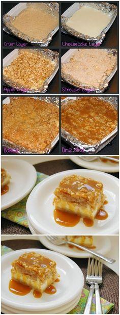 Caramel Apple Cheesecake Squares - Where Home Starts