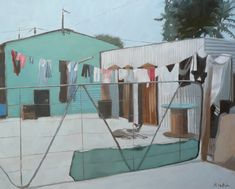 Township Life I have changed my subject matter from dogsonthebeach to township dogs! Lots of material nearby.  #township #shacks #streetscenes #squattercamps #africa #thirdworld #artsy #artistsoninstagram #contemporarypaintings # dogsofinstagram #townshipdogs #oilpainting #corrugatedironhouses #greyhounds #petlove #washingline