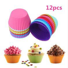 [US $1.89] SSGP 12pcs Round Shape Colorful Silicone Muffin Cases Cake  #12pcs #cake #cases #colorful #muffin #round #shape #silicone #ssgp