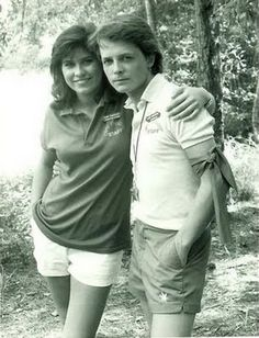 Nancy McKeon and Michael J Fox in Poison Ivy.