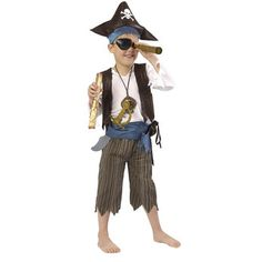 True Heroes Deluxe Pirate Costume