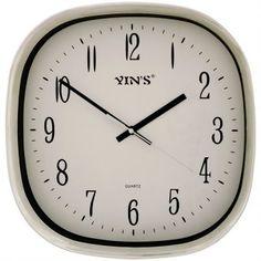 Relógio de Parede Yins YI15061 Prata 30cm - Megazim