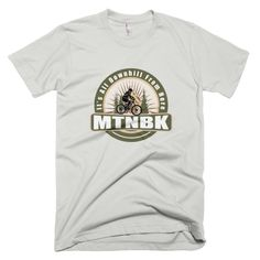 "MTNBK ""All Downhill"" T-Shirt - New Silver, available on www.MTNBK.com"