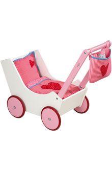 HABA - Erfinder für Kinder - Puppenwagen mit Tasche und Nuckelflasche - Zubehör - Puppen - Spielzeug & Möbel