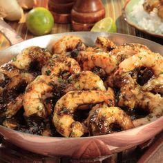 Camarones Con Salsa de Cilantro Y Limón – Una combinación muy sabrosa de sabores de cilantro, lime, damasco y ajo.
