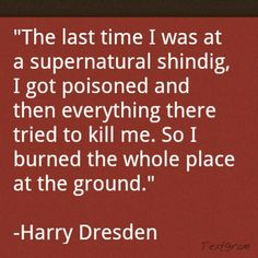Harry Dresden cold days