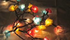 Egg Carton DIY Flower Lights | Who Knew You Could Reuse An Egg Carton To Make Something So Cool!