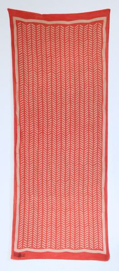 HERRINGBONE | PAPAYA - it's a scarf, but I'd hang it on the wall.