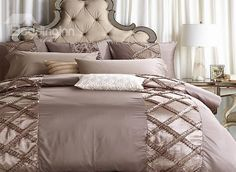 European Style Retro Stereoscopic Embellishment 6-Piece Polyester Duvet Cover Sets #bedding #bedroom