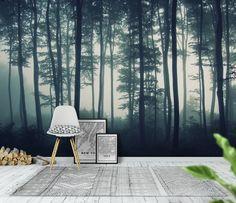 Behind the trees fototapet/tapet fra Happywall