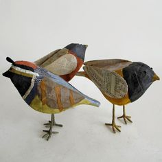 Paper Mache Birds Birds of A Feather project...
