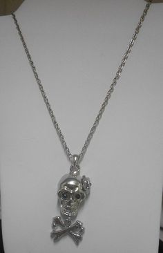 Silver Unique Skull and Crossbones Necklace on #tophatter @ 11PM EST 12/17 http://tophatter.com/auctions/11067