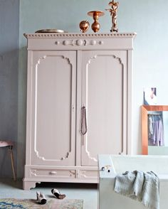 Gorgeous #blushpink armoire! #instacurated  photo by Anne de Leeuw | styling by Marianne Luning // via instagram @curatedinterior