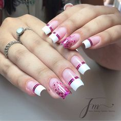 Cute Acrylic Nail Designs, Simple Acrylic Nails, Best Acrylic Nails, Gel Nail Designs, Beautiful Nail Designs, Simple Nails, Elegant Nail Art, Pretty Nail Art, Aycrlic Nails
