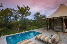 Travel to South Africa on a luxury yoga retreat and discover Saseka Tented Camp in the Thornybush Private Game Reserve. Indulge in yoga, meditation, guided safari walks and game drives. This retreat welcomes yogis of all levels. Boulder Beach, Private Games, Luxury Tents, Indoor Swimming Pools, Plunge Pool, Game Reserve, Yoga Retreat, Tent Camping, Yoga Meditation