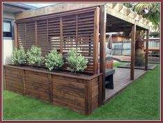 Amazing Privacy Fence for Patio amp; Backyard Landscaping Ideas Amazing Privacy Fence for Patio amp; Backyard Landscaping Amazing Privacy Fence for Patio amp; Backyard Patio Designs, Small Backyard Landscaping, Landscaping With Rocks, Mulch Landscaping, Easy Landscaping Ideas, Fenced In Backyard Ideas, Landscaping Around Deck, Backyard Decks, Mailbox Landscaping