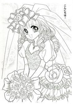 Japanese Shoujo Coloring Book 3 - Mama Mia - Álbuns da web do Picasa Princess Coloring Pages, Coloring Book Art, Coloring Pages For Girls, Cute Coloring Pages, Coloring Pages To Print, Coloring Sheets, Printable Adult Coloring Pages, Anime Princess, Sketch Painting