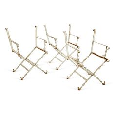 White Iron Garden Chairs, S/3 $229.00