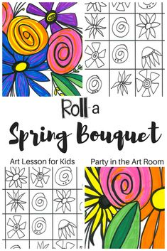 This spring bouquet art project for kids is a colorful addition to your classroom art wall. Bring this spring art lesson to life in your classroom today. This would be a great substitute lesson plan or homeschool art lesson! Art Games For Kids, Art Lessons For Kids, Art Kids, Spring Art Projects, School Art Projects, Collaborative Art Projects For Kids, Science Projects, Kindergarten Art Lessons, Art Lessons Elementary