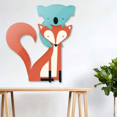 «Fox and Koala», Limited Edition Die-Cut by Jay Fleck - From $174 - Curioos