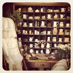 Cute tea cup/pitcher display
