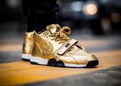 Nike Air Trainer 1 Mid PRM 'Gold Superbowl 50'