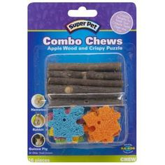Super Pet® Apple Wood & Crispy Puzzle Combo Chew - PetSmart I love the apple wood, but if you buy this do not put the puzzle pieces in the cage because the material is very dangerous to all small animals. Pet Rodents, Pet Rats, Pets, Hamsters, Hamster Care, Hamster Treats, Guinea Pig Food, Guinea Pigs, Gerbil