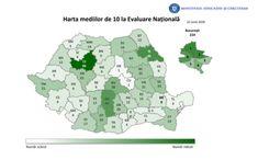 Harta mediilor de 10 de la Evaluarea Nationala 2020. Judetul cu cele mai multe note maxime Mai, Diagram, Literatura, Simple Lines