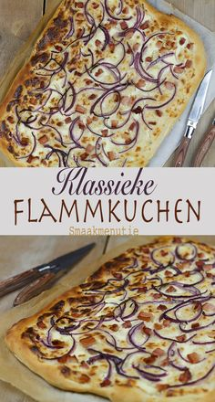 Klassieke flammkuchen #recept #recipe #flammkuchen #lunch