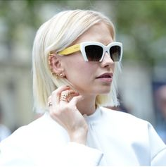 Lena Perminova wearing Repossi Jewelry and Miu Miu Sunglasses Cheap Ray Ban  Sunglasses, White Sunglasses 52684f0d4a