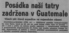 Posádka naší Tatry zadržena v Guatemale, psalo Rudé právo 21. března 1988-Foto:Archiv Ústavu pro českou literaturu AV ČR