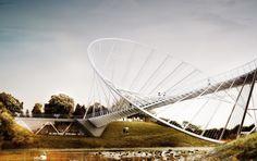 Salford Meadows Bridge – The O Bridge | Salford, United Kingdom | Alex Daxböck and Chris Precht from penda