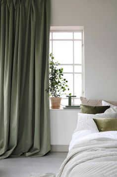 Color Block Curtains, Dye Curtains, Green Curtains, White Curtains, Colorful Curtains, Decor Room, Bedroom Decor, Home Decor, Layered Curtains