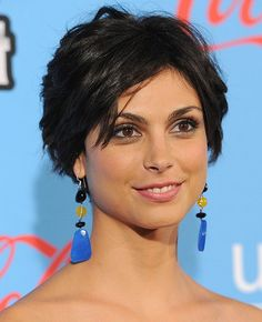 short and sexy hairstyles | Morena Baccarin Cute layered razor cut hairstyles | Hairstyles Weekly