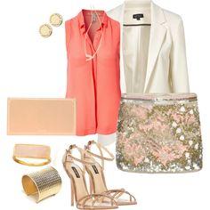 """""""Sequin skirt"""" by brunettevip on Polyvore"""