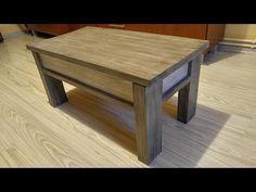 (24) Jak zrobic otwierany maly stolik z palet / How to make a small pallet table - YouTube