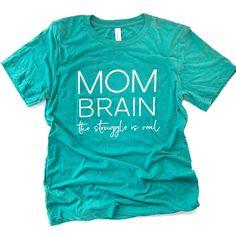 Mom Brain Tee | Mom Life | Graphic Tee for Women Graphic T Shirts, Cute Tshirts, Mom Shirts, Mom Brain, Vinyl Shirts, Diy Shirt, Personalized T Shirts, T Shirts With Sayings, Custom T
