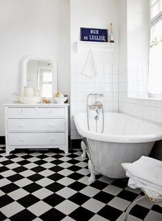 Black and white tiles....