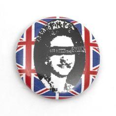 'Queen' Sex Pistols Pin Badge