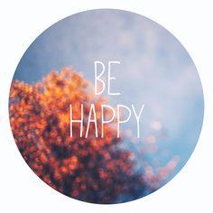 Farbe - Be Happy ❤ - Print Rund mit Typo auf 13x13cm - ein Designerstück von TanteRina bei DaWanda