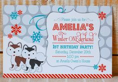 Winter Wonderland Party  #winter #invite