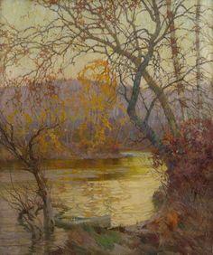 Frederick J. Mulhaupt - An October Evening |