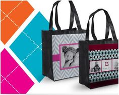 Customize the special tote bag by printing your baby's photo on it. It seems that your baby are stay with you all the time.